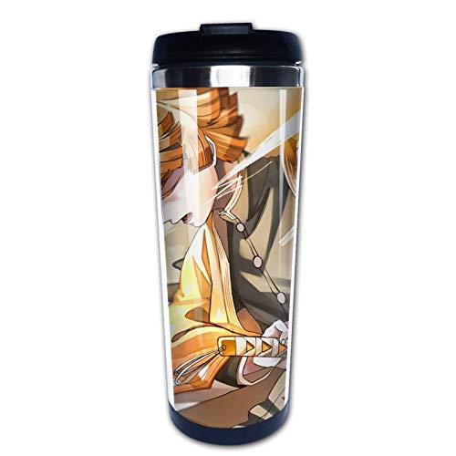 Ahdyr De-mon S-la-yer Zenitsu Agatsuma Reisekaffeetasse Edelstahl Becher Tasse Wasserflasche 400ml