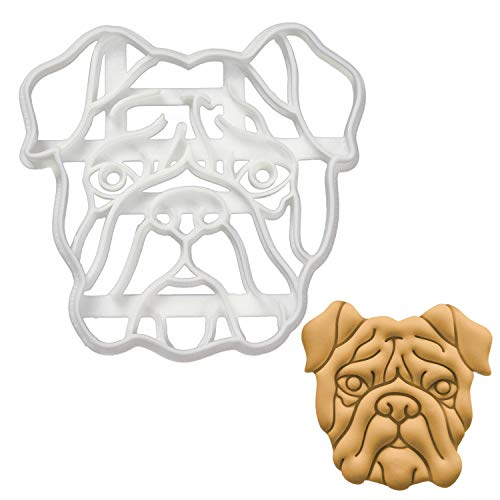 English Bulldog Face cookie cutter, 1 piece - Bakerlogy