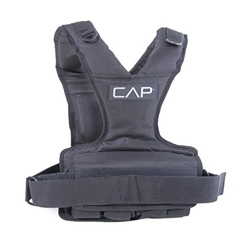 CAP Barbell Women's Weighted Vest, 30 Pound, Black