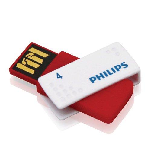 Philips Sato - Memoria USB 2.0 de 4 GB, Color Rojo