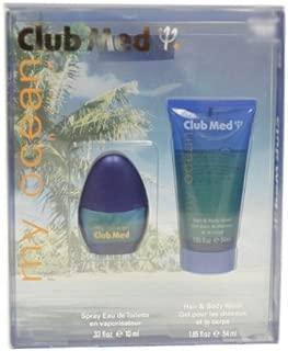 Club Med My Ocean By Coty For Men. Gift Set ( Eau De Toilette Spray 0.33 Oz + Hair & Body Wash 1.8 Oz )