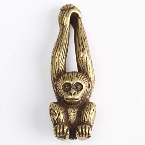 LBYLYH - Figura decorativa para el hogar, 1 estatua de jardín, 1 pieza de latón con diseño de mono pequeño