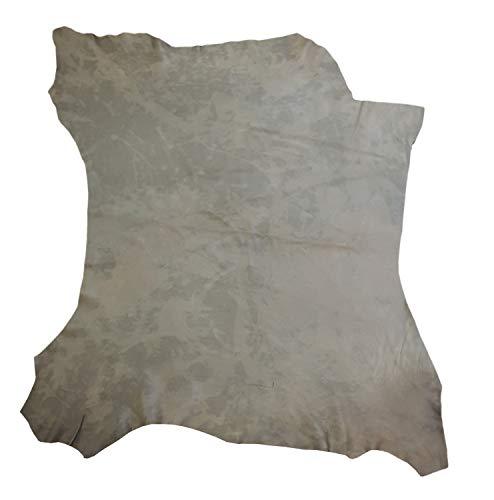 Zerimar Natur Lederreste | Lederreste Kaufen | Lederreste Sortiert | DIY Lederreste | Farbe: Braun dunkel | Massnahmen: 90x100 cm