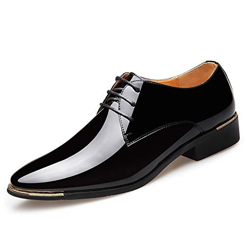 Patentes de Cuero de los Hombres Zapatos de Vestir de los Hombres Zapatos de Negocios de Estilo Italiano Hombres Zapatos de Boda Calzado Masculino 38-47