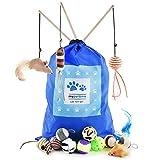 My Pet & Me Katzenspielzeug-Set. 15 Stück Spaß für Ihre Katze oder Ihr Kätzchen! Vollständig sicherheitsgeprüft, Wird mit praktischer Aufbewahrungstasche geliefert