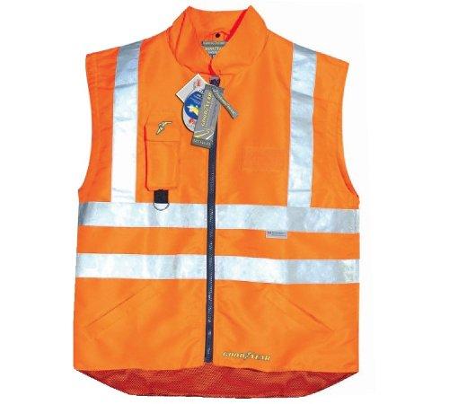 GILET GOODYEAR hoge visiBILITA' van polyester XXXL Oranje.