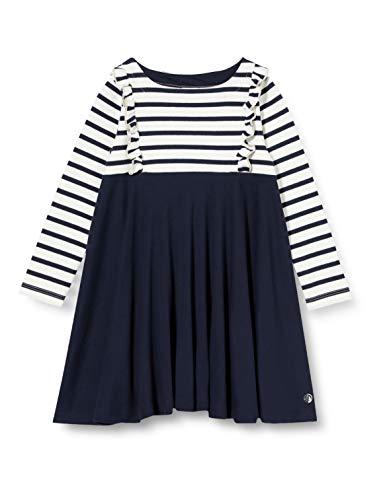 Petit Bateau 5583901 Kleid für Mädchen Gr. 5 Jahre, Marshmallow/Smoking