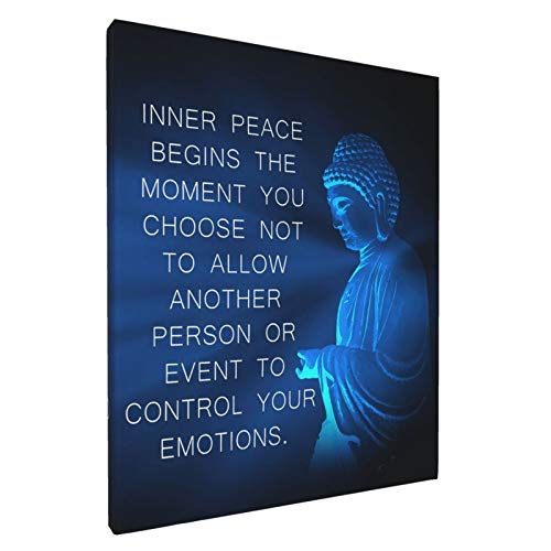 Buddha Wall Art Canvas Prints Artwork Inspirational Motivational Zen Quote Wall Decor For Bathroom, Home, Apartment, Spa, Yoga Or Meditation Room - Unique Gift For New Age Fan Women 8x10inch