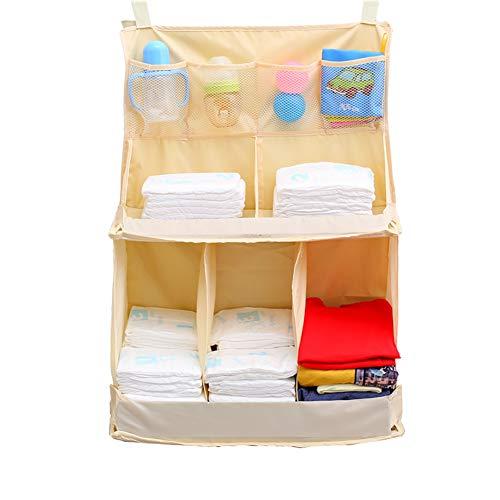 XGZ luierorganizer voor baby, multifunctionele organizer voor kinderkamer, nachtkastje, hangtas, opbergtas voor knuffeldieren, luiers, melkpoeder, vochtige toilethanddoeken, kleding