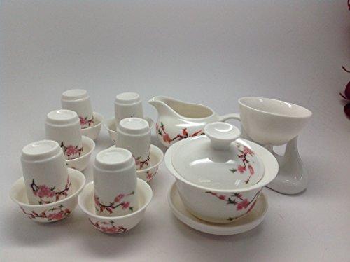 Gaiwan Tea Set 4oz Bird Flower Set All in One