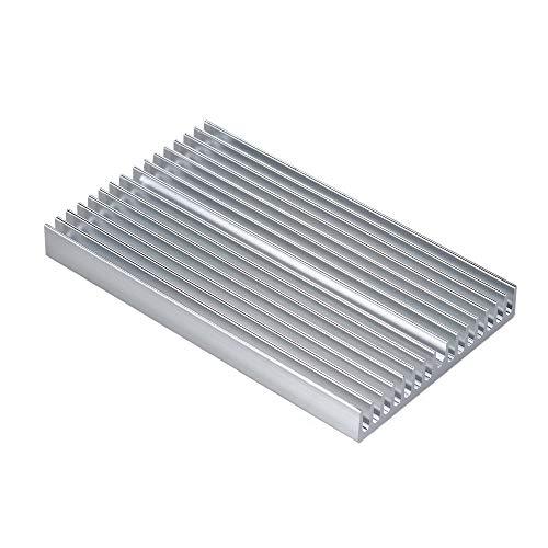 OverTop Kühlkörper aus Aluminiumlegierung, Kühlkörper mit Blauer Oxidation, Kühlkörper mit 16 Lamellen für Hochleistungsverstärker, Transistor, Halbleiter Dev