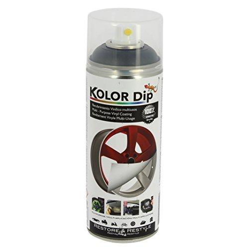 Kolor Dip Spain KD12004 Pintura en Spray con Vinilo Líquido Extraible, Antracita Metalizado