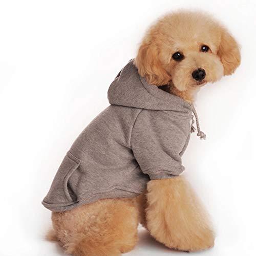 ZguZM Hund Pullover, Kleider Für Haustiere Wolle Gürteltasche Weiches Und Bequemes Sweatshirt Herbst Und Winter Teddybär Hundesport,Grau,XXL