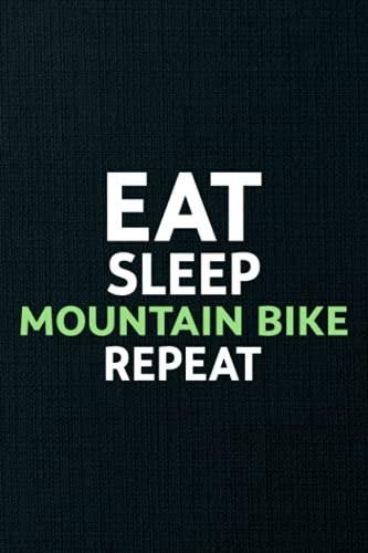 Migraine Tracker - Mountain Bike Eat Sleep MTB Repeat Downhill Biking Gift Graphic: Chronic Headache Management Log book To Keep Record Of Date, ... - Medical Gifts For Men, Women, Kids,Pers