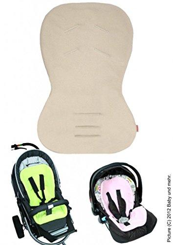 byboom®–Asiento para Baby Asiento/Moby con cara de verano e invierno, universal para portabebés, asiento de coche, por ejemplo para maxi-cosi, Römer, para carrito O. Buggy; Beige
