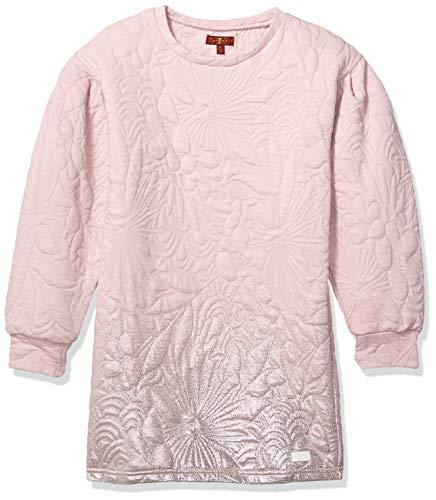 7 For All Mankind Vestido de Forro Polar Acolchado con Mangas Tipo Puff para niñas, Violeta (Violet Ice), 4