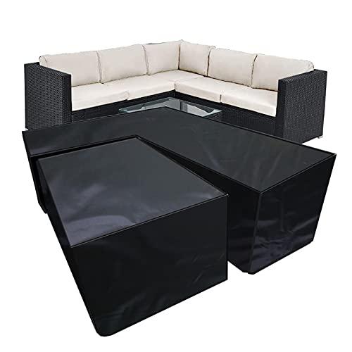hujio Funda para Sofá en Forma de V, Aoligei Muebles de Jardín Funda, Cubierta seccional para Muebles Cubierta, Impermeable a Prueba de Viento Paño Oxford 420D210D-V Suit 300x300x98cm
