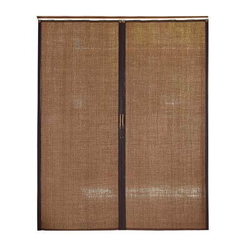 Jcnfa-Persianas Persiana Enrollable De Bambú Puertas Corredizas Plegables Izquierda Y Derecha. Sala De Estar Cocina Dormitorio Balcón. Cortina De Rodillo Sin Cuerda 90% De Protección UV