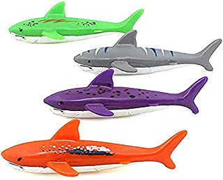 ORiTi Diving Pool Toy Underwater Swimming Throwing Diving Torpedo Shark,4 Pack