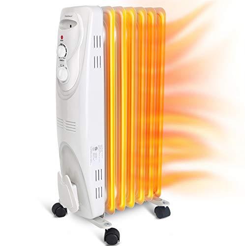 Aigostar Pangpang - 1500W Oil Filled Radiator Electric Heater 7-Fin Safe Heat 330000LCK