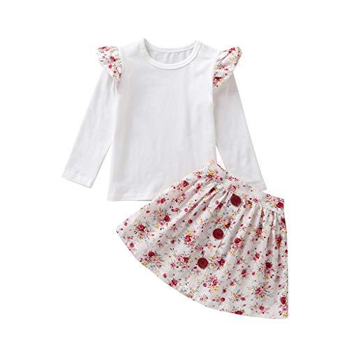 Julhold Peuter Baby Kid Meisjes Leuke Elegante Ruched T-Shirt Tops Effen Rok Jurk Slim Casual Katoen Set Outfits 0-4 Jaar