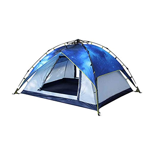 REWD Camping-Zelt, automatisches Pop-Up-Camping-Zelt, doppelte Schicht-Familie Zelte Türen auf beiden Seiten Wasserdichtes & UVschutzsun Shelter mit Tragetasche