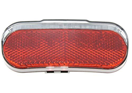 P4B | Fahrrad Dynamo-Rücklicht LED Modell 539 mit Standlicht und Reflektor | StVZO Zulassung | zur Montage am Gepäckträger (80 mm Schraubenabstand)
