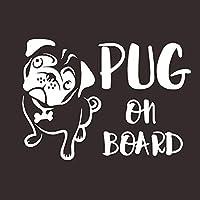 車のステッカーブルドッグ犬犬の車のステッカーの創造的な漫画のパグ (Color : 2)