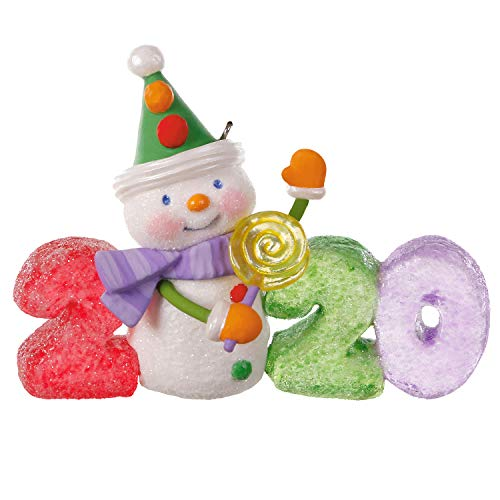 Hallmark Keepsake Christmas Ornament 2020 Year-Dated, Sweet Decade Candy Snowman