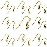 My-Bead 10 Paar Damen Ohrhänger Gold 18mm 925 Sterling Silber 24K vergoldet in Juweliers- Qualität DIY
