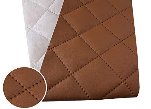 Tukan-tex (9,8€/m) Kunstleder Gesteppt Möbel Textil Meterware Polster Stoff PU - Möbelstoff (Braun 814)