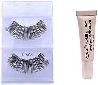 12 Pairs Creme 100% Human Hair Natural False Eyelash Extensions Black #118 Long Natural Lashes by Creme Eyelash