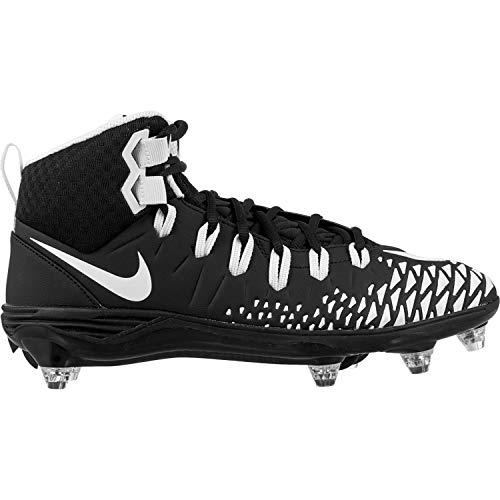 Nike Force Savage Pro D Men's Football Cleats Black/White/Black/Black Size 13