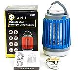 yipin Anti Moustique Lampe Lumière de Camping 2 en 1 Tueur Moustique IP67 Étanche USB Rechargeable...