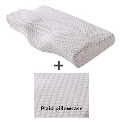 Geheugen Pillow Nek bescherming Pillow Butterfly vorm trage rebound memory foam kussen Health Care Cervical Neck Orthopedische Kussens, 2pillow2pillowcase, 50x30cm dljyy