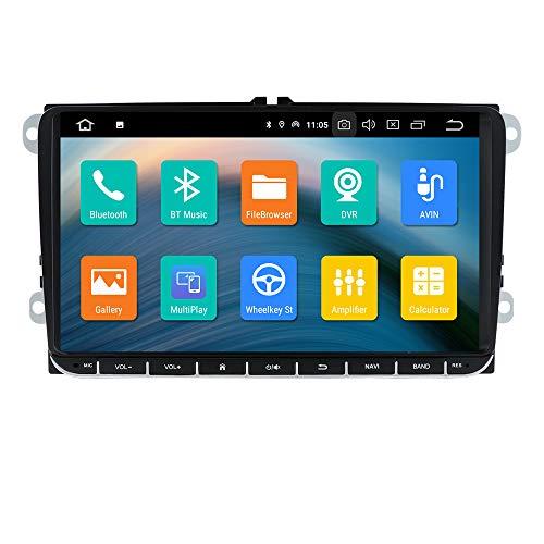 Sistema multimediale per auto Radio stereo 1080P Lettore video con sistema operativo Android 10 per W Skoda Supporto sedile GPS Bluetooth Mirror-link USB WiFi 4G SWC AM/FM RDS DSP DVR