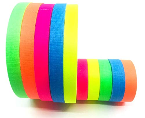 Gaffer Power Spike Tape - Premium Grid and Line Striping Adhesive Tape   Dry Erase Tape for Whiteboard   Art Tape  Pinstripe Tape for Floors, Stages, Sets, Metal   5 Colors Beautiful Colors