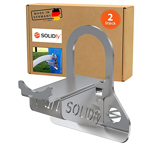SOLIDfy® - 2X 26mm - 38mm Pool Schlauchhalter Knickschutz aus Edelstahl für Intex und Bestway Swimmingpools