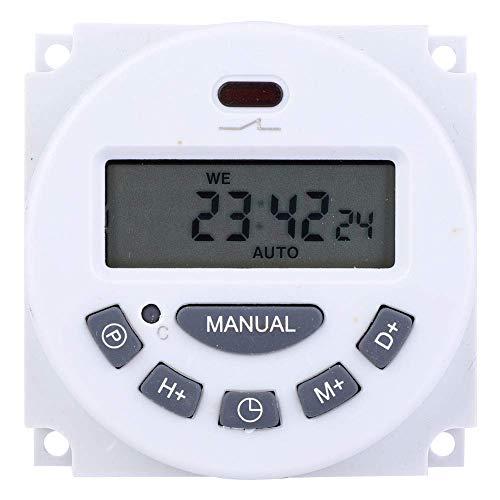 L701 Mini pantalla LCD de alta precisión Temporizador digital Control de tiempo Interruptor de sincronización (12V) Blanco