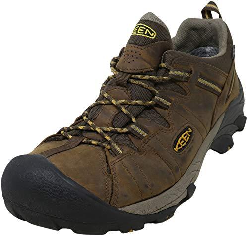 Keen Men's Targhee II WP Cascade Brown/Golden Yellow Hiking Boot - 10 2E US