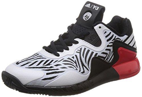 adidas Damen Adizero Y3 2016 Tennisschuhe, Weiß (Core Black/FTWR White/FTWR White), 41 1/3 EU