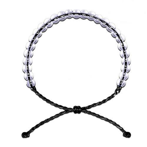 Onord Damen-Armband mit 4ocean Anhänger sind hand perlen-Schmuck aus recyceltem Schmuck, Unisex (2 Stück)