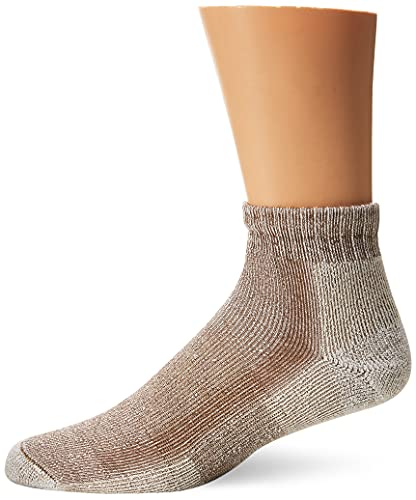 Thorlos Unisex LTHMX Light Hiking Thick Padded Ankle Sock, Walnut, Large