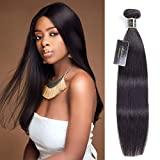 Brazilian Straight Human Hair 1 Bundle 18 Inch Premium 9A Straight Bundles 100% Unprocessed Brazilian Straight Virgin Hair Bundles #1B Natural Color Soft And Silky
