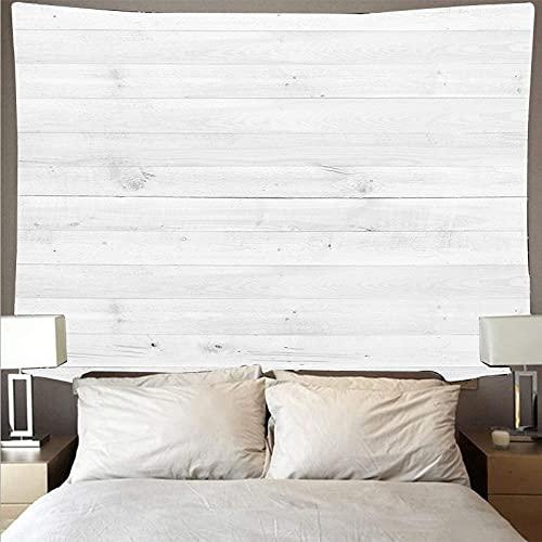 Tela de pared de tablón de madera blanca horizontal tapiz de arte retro hippie colgante de pared tapiz psicodélico tela colgante A7 73x95cm