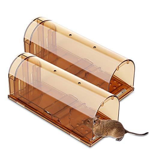Preisvergleich Produktbild Anecity Mausefalle Lebend,  Wiederverwendbare Lebendfalle für Mäuse,  20 cm,  Lebendfallen Mäuse No Kill The Mice,  Haustiere und Kinderfreundlich,  Professionell Rattenfalle für Küche Garten