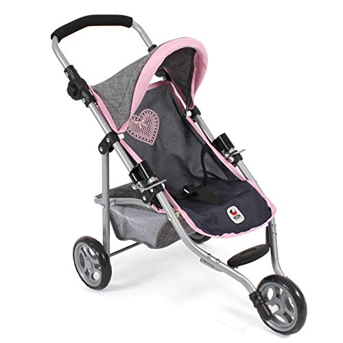 Bayer Chic 2000 612 26 Jogging Buggy Lola, Melange grau-Navy