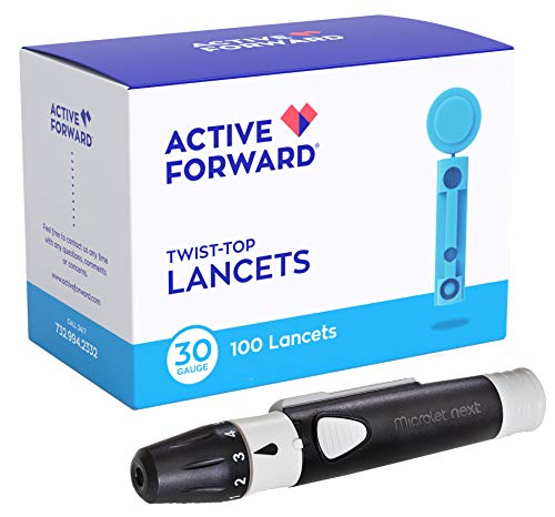 Microlet Lancing Device + 100 Active Forward 30g Lancets