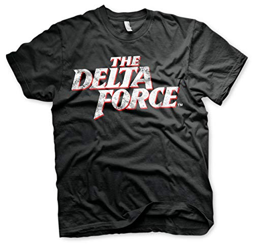 Officieel gelicentieerd product The Delta Force Washed Logo heren T-shirt (zwart)