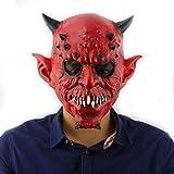 ZEH Máscara de Halloween, Infierno exótico de Halloween de la Bola de la casa encantada Bar Horror Head Set Látex Máscara del Diablo de Halloween Látex FACAI